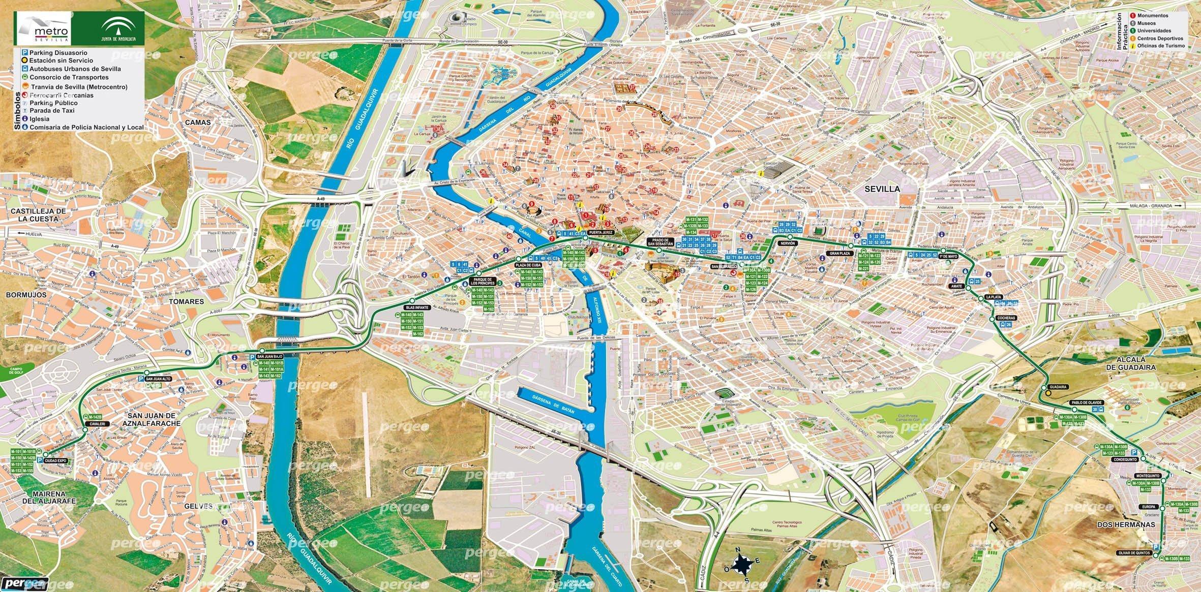 metro-sevilla-city-map - Seville Traveller